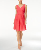 Nine West Swiss Dot Square-Back A-Line Dress