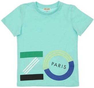 Kenzo Kids Logo Print Cotton Jersey T-shirt