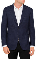 Canali Wool Mix Textured Jacket