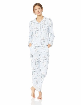Jane & Bleecker Women's Woven Sateen Printed Pajama Set