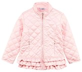 Mayoral Light Pink Quilted Frill Jacket