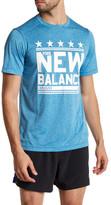 New Balance Short Sleeve Heathered Graphic Tee