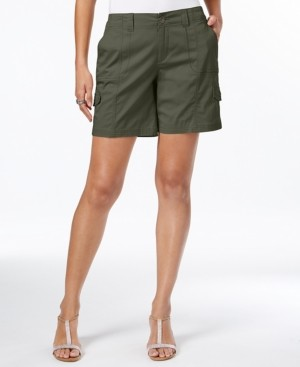 Style&Co. Style & Co Petite Zig-Zag Cargo Shorts, Created for Macy's