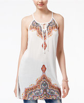 American Rag Printed Tie-Front Tunic, Only at Macy's