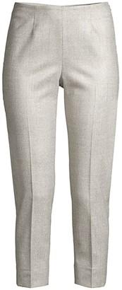 Peserico Side Zip Plaid Wool-Blend Pants