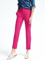 Banana Republic Ryan-Fit Pink Lightweight Wool Slim-Straight Pant