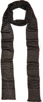 Missoni Striped Metallic Crochet-knit Scarf - Black