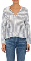 Ulla Johnson Women's Iliana Striped Cotton Blouse