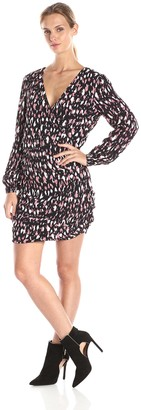 Lovers + Friends Lovers+Friends Women's Joleen Long Sleeve Animal Print Dress