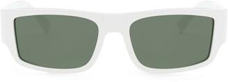 Versace Eyewear Rectangle-Frame Tinted Sunglasses