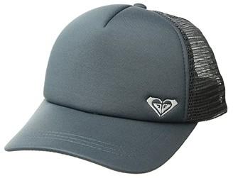Roxy Finishline Trucker Hat (Turbulence/White) Caps