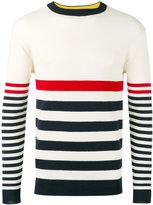 MAISON KITSUNÉ striped sweater - men - Wool - M