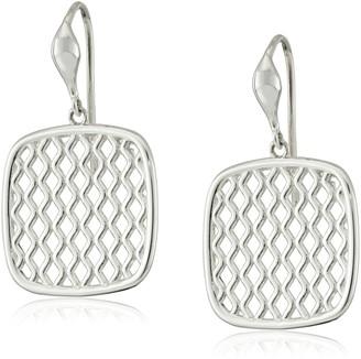 """Zina Sterling Silver """"Trellis"""" on Wire Drop Earrings"""