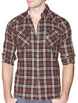 191 Unlimited Men's Brown Plaid Flannel Shirt