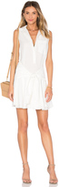 Derek Lam 10 Crosby Sleeveless Tie Waist Shirtdress
