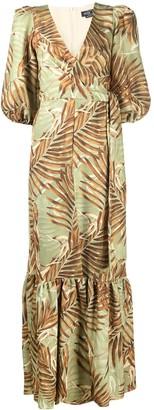 PatBO Palmeira leaf-print maxi dress