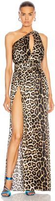 GAUGE81 Tokyo One Shoulder Maxi Dress in Leopard | FWRD