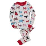 Hatley Unisex Winter Dog Overall Print Pajama Set