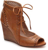 Restricted Women's Slow Motion Wedge Sandal -Cognac Faux Leather