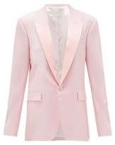 Pallas X Claire Thomson Jonville X Claire Thomson-jonville - Georgia Single-breasted Wool-crepe Jacket - Womens - Light Pink