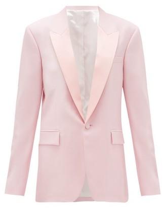 Pallas X Claire Thomson-jonville - Georgia Single-breasted Wool-crepe Jacket - Womens - Light Pink