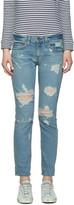 Rag & Bone Blue Boyfriend Jeans