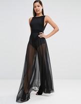 Aq/Aq AQ AQ AQAQ Kiva Sheer Maxi Dress