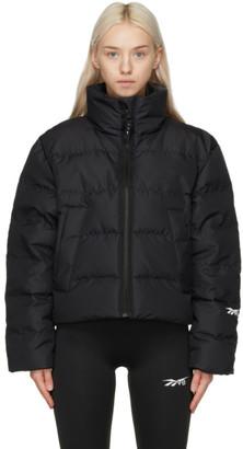 Reebok x Victoria Beckham Black Down Cropped Puffer Jacket