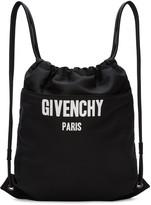Givenchy Black Logo Drawstring Backpack