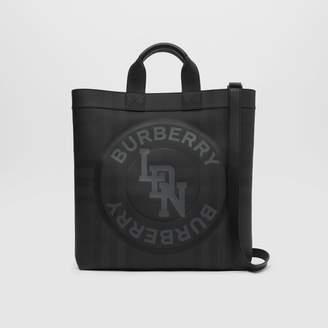 Burberry Logo Graphic London Check Tote
