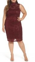 Marina Plus Size Women's Sequin Lace Sheath Dress