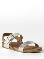 Classic Girls Kylie Play Sandals-Ivory Foil