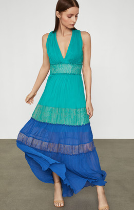 BCBGMAXAZRIA Chiffon Larkspur Dress