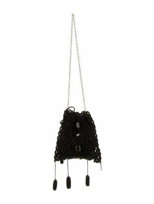 Marni Crochet Shoulder Bag Black