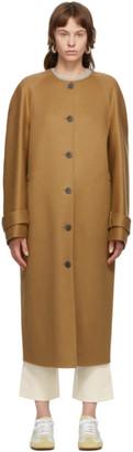 Loewe Tan Wool and Cashmere Raglan Coat