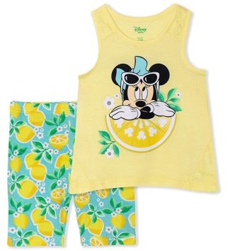 Minnie Mouse Disney Baby Girl Top & Bermuda Short Outfit, 2pc set
