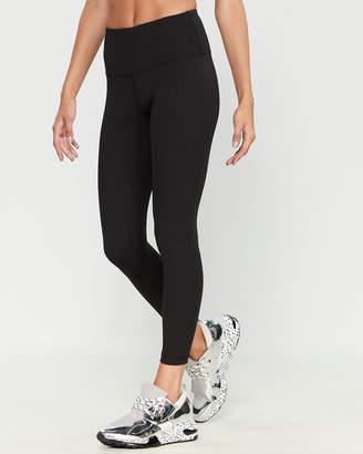 90 Degree By Reflex Black Solid Tonal Stitch Leggings