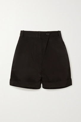 Ann Demeulemeester Satin-twill Shorts - Black