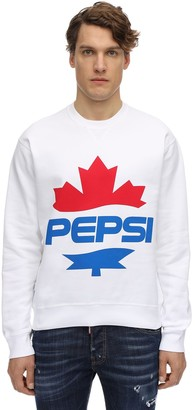 Dsquared2 X Pepsi Printed Cool Cotton Jersey Sweatshirt