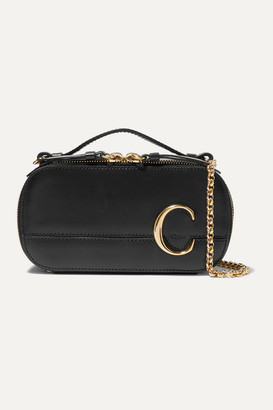 Chloé C Leather Shoulder Bag - Black