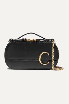 Chloé C Leather Shoulder Bag - Black