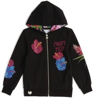 Philipp Plein Junior Floral Logo Hoodie