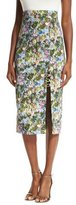 Cushnie et Ochs Floral Cady Pencil Skirt
