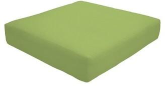 "Eddie Bauer Knife Edge Indoor/Outdoor Sunbrella Ottoman Cushion Fabric: Canvas Gingko, Size: 5"" H x 23"" W x 20"" D"