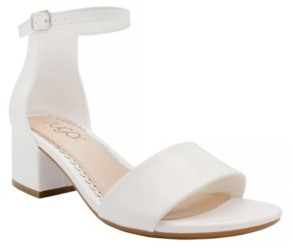 Sugar Women's Mattie Two-Piece Kitten Heel Sandals Women's Shoes
