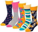 Getaway Yellow 5 Pairs Men's Crew Socks