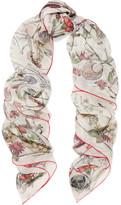 Alexander McQueen Devil's Trap Printed Silk-chiffon Scarf - Ivory