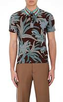 Valentino MEN'S PALM-PRINT JERESY POLO SHIRT