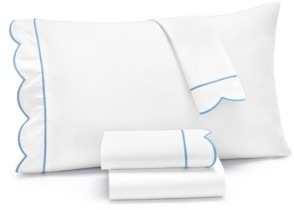 Martha Stewart Collection Signature Scallop 4-Pc. California King Sheet Set, 400 Thread Count 100% Cotton Percale, Created for Macy's Bedding