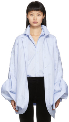 Y/Project Blue Double Shirt Dress